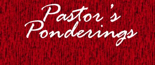 Pastor's Ponderings Jan. 2 2018